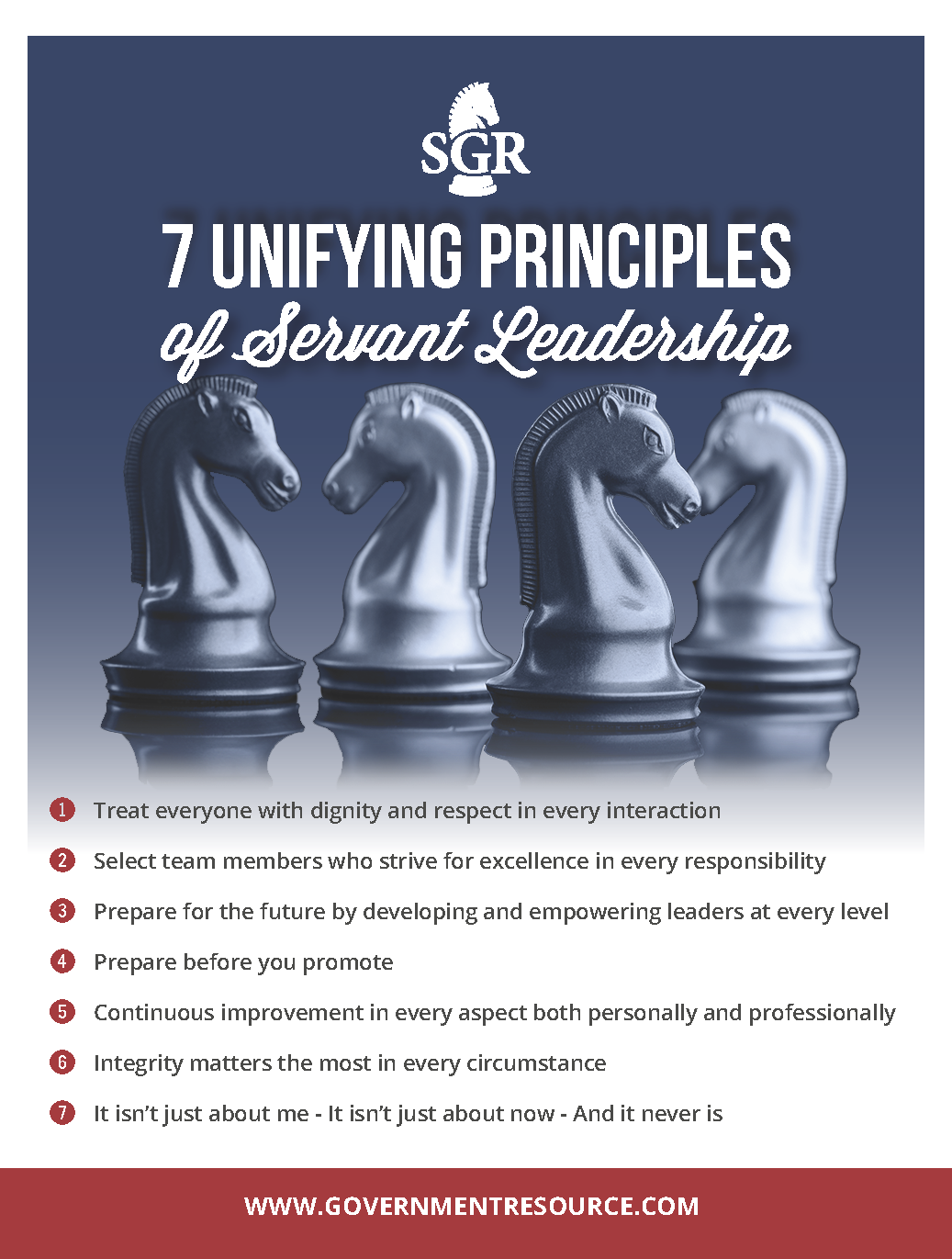 7 Unifying Princples of Servant Leadershp graphic